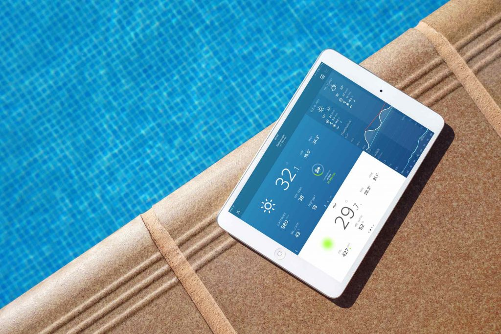 Thermomètre de piscine WLAN