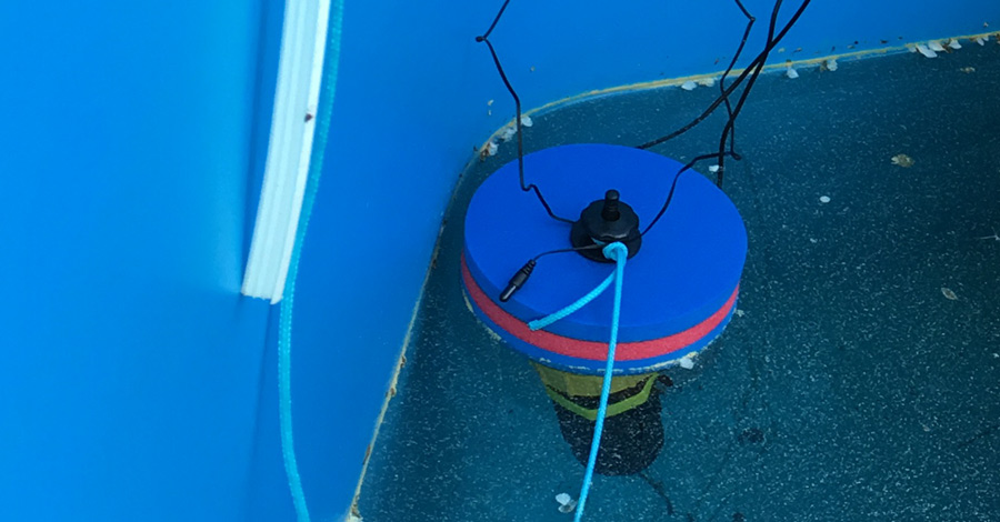 WLan Poolthermometer Test 2 - Versuchsaufbau