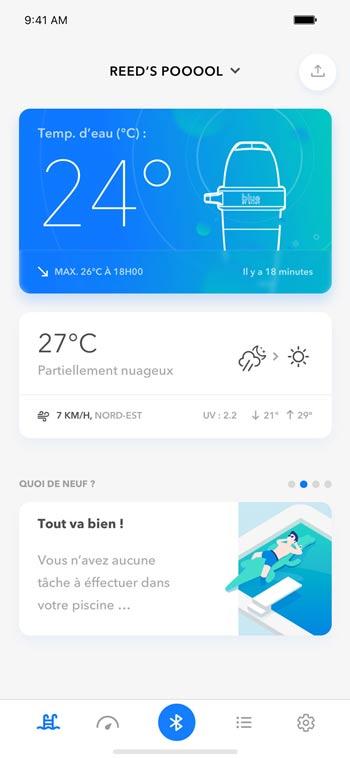 Análisis de piscinas a través de la aplicación