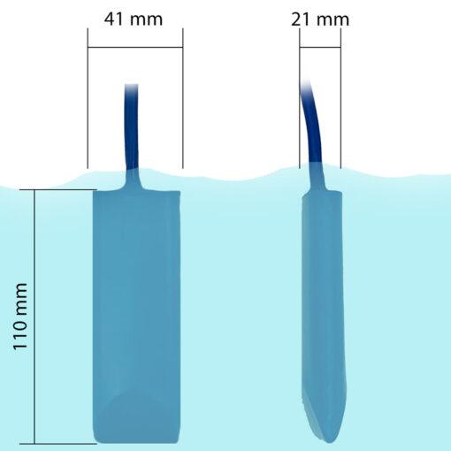 Smart Skimmer Pool Thermometer - Netatmo Modificatie - Afmetingen